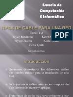 Tipos de Cable Para Una Red