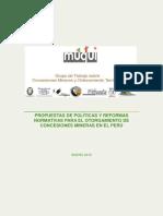Libro Concesiones Mineras y Ordenamiento Final