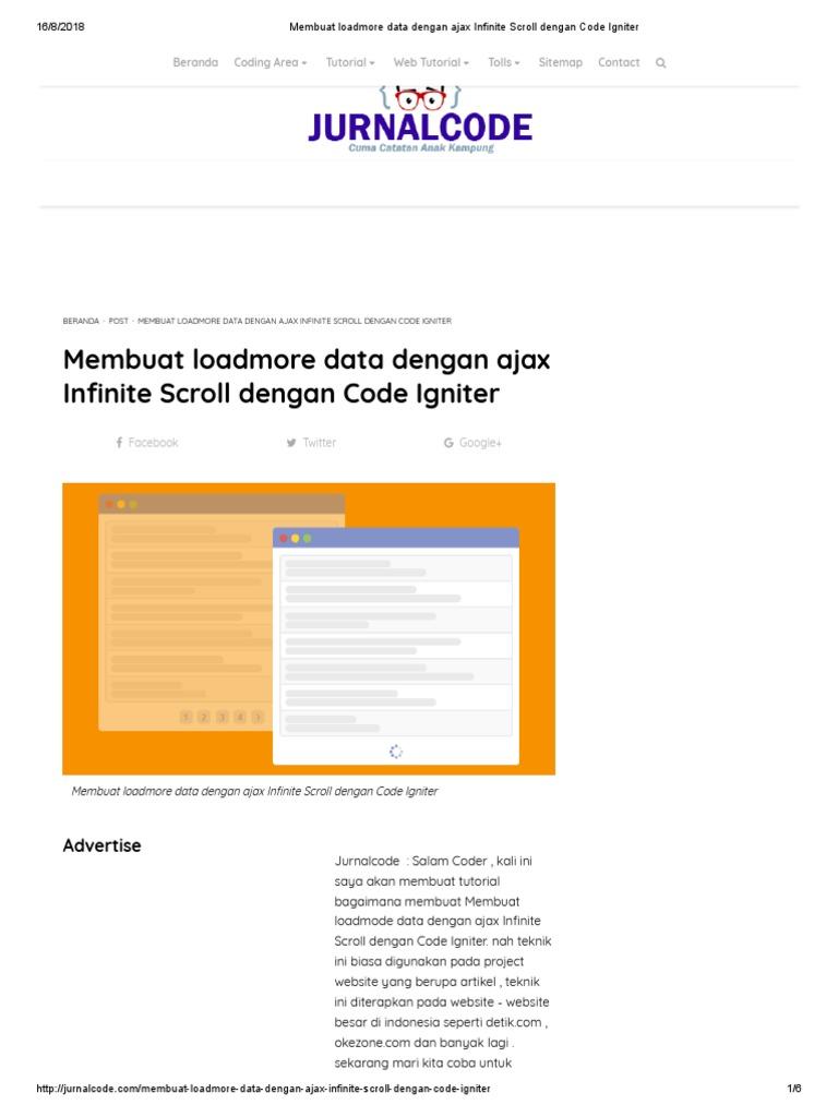 Membuat Loadmore Data Dengan Ajax Infinite Scroll Dengan