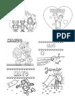 Meses Del Año Ilustradas