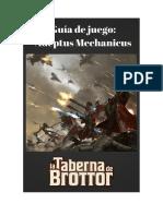 Guía de Juego Del Adeptus Mechanicus La Taberna de Brottor
