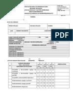 Lista de Chequeo Desempeno Producto MTTO Y REDES