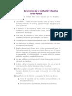 Normas de Convivencia de La Institución Educativo Javier Heraud