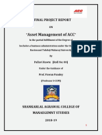 Project Report on Asset Management of Acc Limited_pallavi Rawte