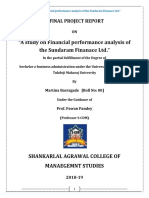 FINAL a Study on Financial Performance Analysis of the Sundaram Finance Ltd MARTINA BARSAGADE