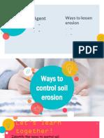 Ways to Control Soil erosion