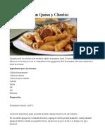 Macarrones Con Queso y Chorizo receta