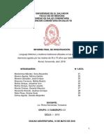 Informe Final de Investigación