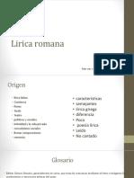 Lirica Romana
