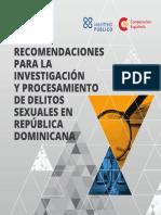 Recomendaciones para la Investigación y Procesamiento de Delitos Sexuales en República Dominicana