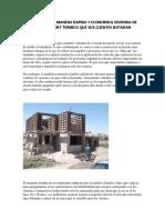 Construya de Manera Rapida y Economica Vivienda de Alto Confort Termico Que Sus Clientes Notaran