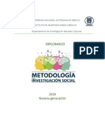 diplomado metodologia de la investigacion social