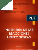 Ingeniería de Las Reacciones Heterogéneas