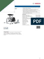 Masina De Tocat Carne Bosch specificatii