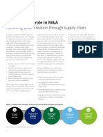 Us Ma Supply Chains Role in m and a Achieving Value Creation Through Supply Chain