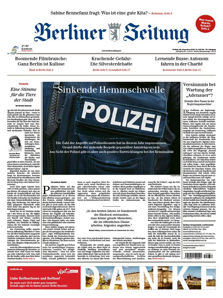 97bc8406ead90c Berliner Zeitung – 28. Dezember 2018