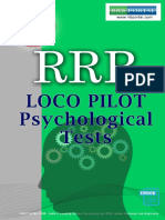 RRB e Book Psychological Tests for Assistant Loco Pilot ALP Exam