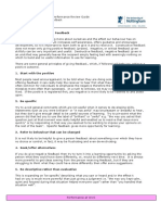 Pd Pr Principles of Constructive Feedback