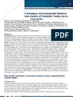Effect of Class II Amalgam and Composite Restorations on Periodontal Health