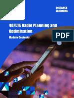 4G LTE Radio Planning and Optimisation - Module Contents (Nov 16)