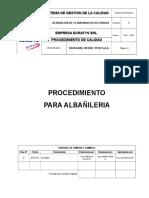 Procedimiento Para Albañileria