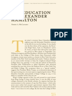 Education of Alexander Hamilton