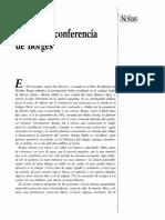La última conferencia de Borges