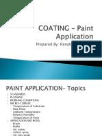 Technical Presentation Coating Paint Application