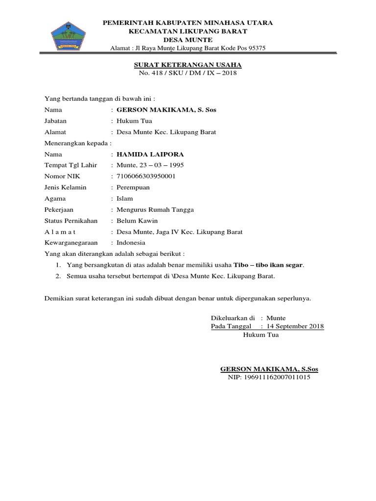 Surat Keterangan Usahadocx
