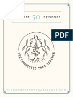First 50 Episodes on The Connected Yoga Teacher