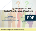 Teaching Machines to Ask Useful Clarification Questions