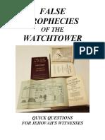 False Prophecies Quick Questions for Jws