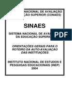 orientação de avaliação institucional educação superior