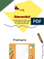 Bienvenida  curso escolar 2009-2010