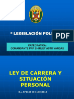 Ley de Carrera y Situación Del Personal PNP