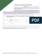Examiner Report for  Test 02 Mechanics