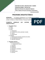 Programa Arquitectonico Metodológico