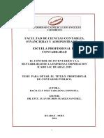 Tarazona. El Control de Inventarios y La Rentabilidad de La Empresa Corporacion