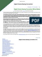 Digital Cinema Naming Convention