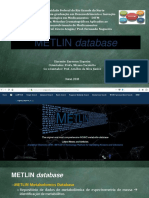 Seminário Disciplina de Cromatografia - metlin database 2018