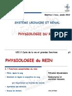 Béatrice l Azou, Année 2010 Système Urinaire Et Rénal Physiologie Du Rein. Ue2.2 Cycle de La Vie Et Grandes Fonctions
