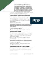 strategies for managing misbehavior