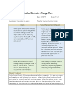 individual behavior change plan