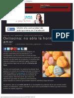 Oxitocina No Sólo La Hormona Del Amor - Antroporama Antroporama