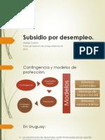 Presentaci+¦n Power Point - Subsidio por desempleo