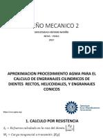 Diseño mecanico 2_ Diseño de engranajes _ Aprox_ Procedimiento AGMA.pptx