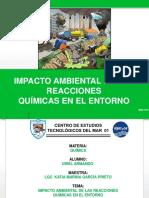 IMPACTO AMBIENTAL  DE LAS REACCIONES QUIMICAS EN EL ENTORNO