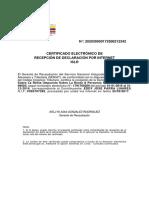 Certificado Islr 2016 Eddy Arca