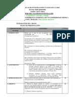 Estructura de informe cualitativo