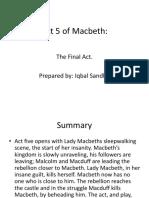 Macbeth Act v by Iqbal Sandhu